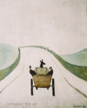 ls lowry the cart print