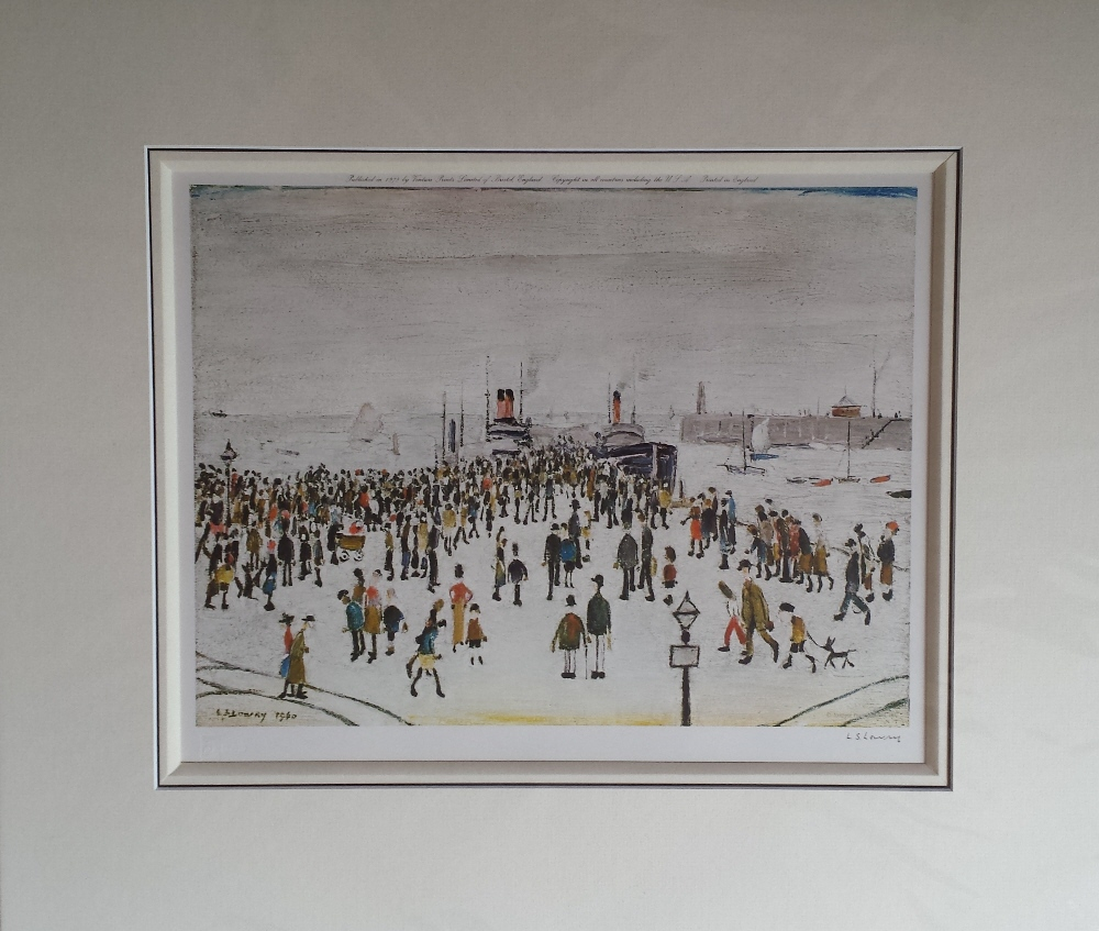 lowry ferry boats signed print lslowry