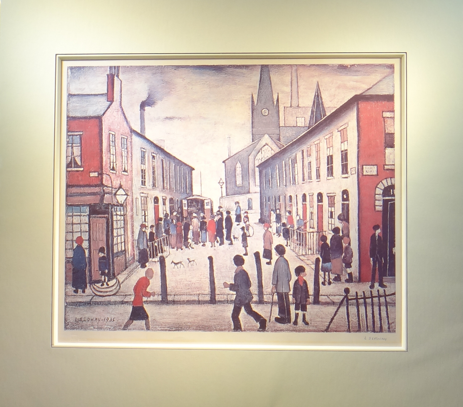 lowry fever van signed print mounted