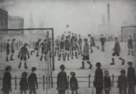 ls lowry Football Match unsigned