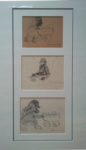 ls lowry group of children sketch print