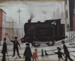 ls lowry level crossing with train print