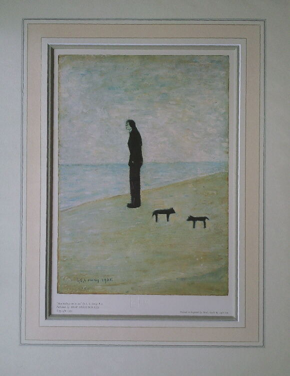 lowry man looking out to sea