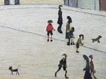 l.s. lowry painting close up