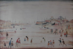 ls lowry on the sands print