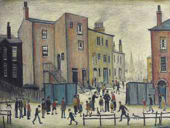 old houses painting lowry