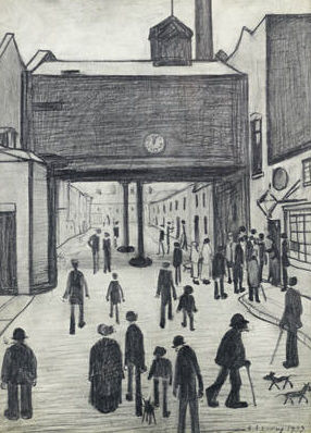 lowry outside a mill original painting