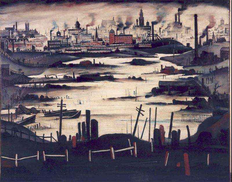 lowry The Lake painting
