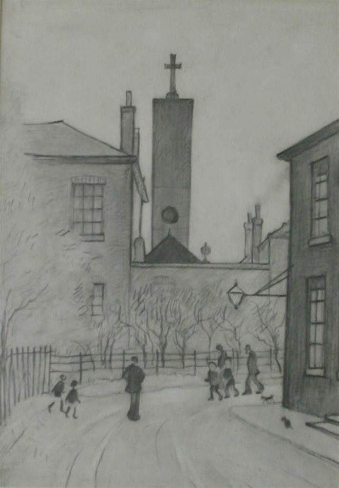 lowry the tower original drawing