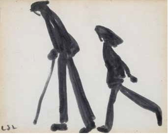lowry Two Figures Walking