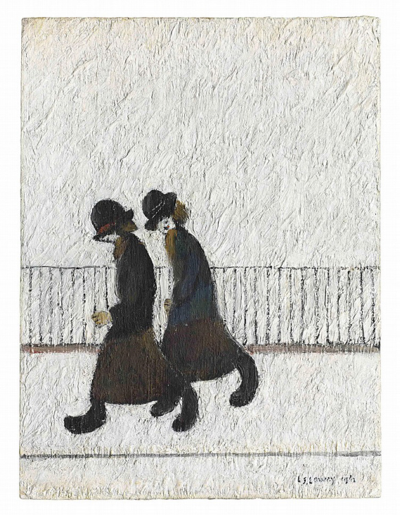 lowry two sisters original painting