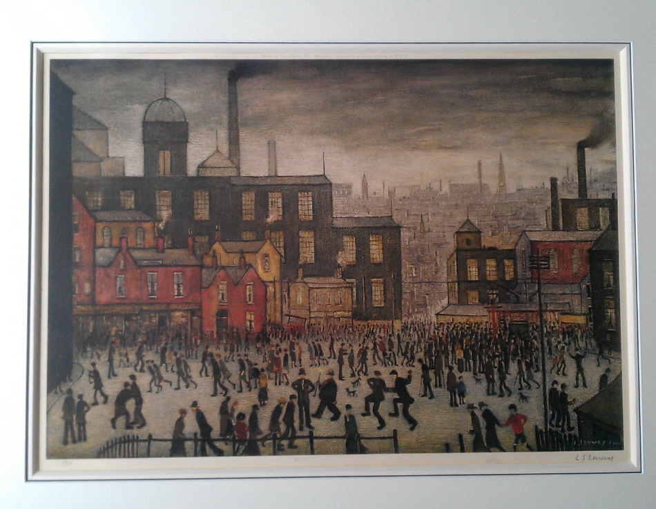 Our Town lowry mounted