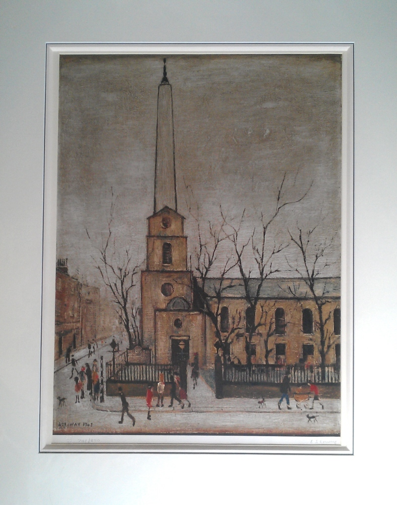 lowry st. lukes church london mounted print