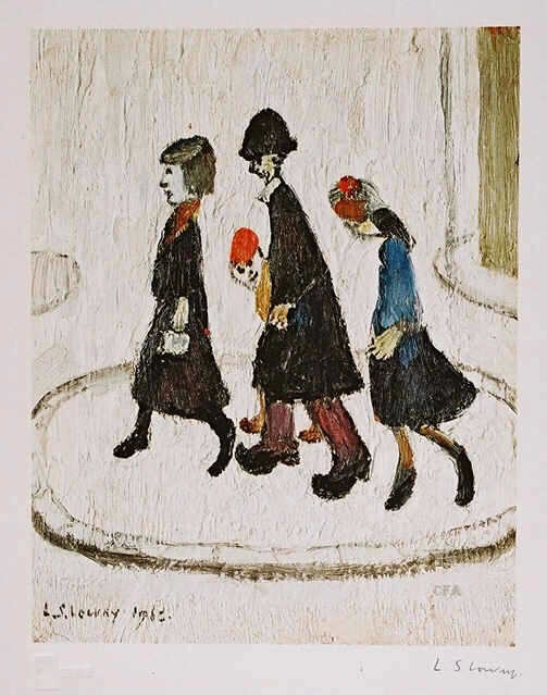 lowry the family signed print