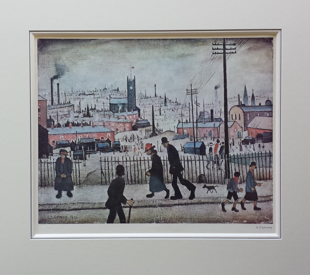 lowry view of a town french bound mount